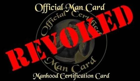 Image result for taking a man card
